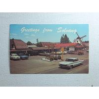 Калифорния  открытка США 1950-е годы размер 9х14 см