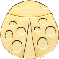 "Палау 1 доллар. ""Божья коровка"".  Монета в капсуле; сертификат. ЗОЛОТО 0,5гр."