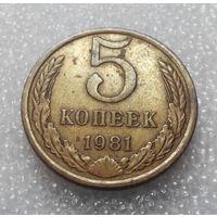 5 копеек 1981 года СССР #01