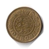 Дания. 10 крон. 1989 г.