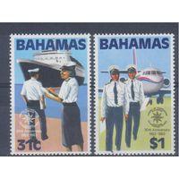 [1703] Багамы 1983. Транспорт.Самолет,корабль.Униформа.