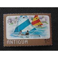 Антигуа 1976 г. Водный спорт.