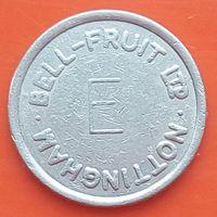 Токен Bell Fruit LTP - Е -Nottingham (Великобритания) -для торговых аппаратов с фруктами