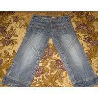 Джинсовые брюки-капри р-р 26. Старт с 1 у.е.!