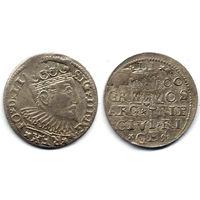 Трояк 1600, Сигизмунд III Ваза, Рига. Более редкий год, R1