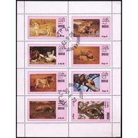 М.л. фауна. Кошки. Оман Дофар (Дуфар) 1973. Львы. Гаш.