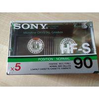 Аудиокассета Sony HF-S90 . 5 шт. Франция.