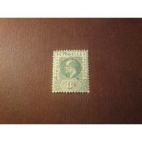 Британские Сейшельские острова 1906 г.Эдуард -VII.