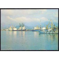 ДМПК СССР 1984 Батуми морской порт корабли