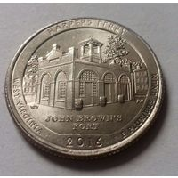 """25 центов, квотер США, нац. парк """"Харперс Ферри"""" (штат Западная Вирджиния), P D"""
