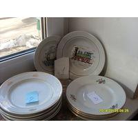 Тарелки фарфоровые разные