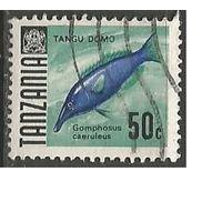 Танзания. Рыбы. Лазоревый криворыл. 1967г. Mi#25.