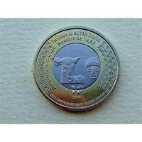 """Среднее Конго 1 франк 2014 """"100 лет Первой Мировой"""""""