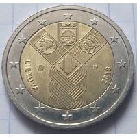 Литва 2 евро, 2018 100 лет государствам Балтики             ( 6-7-4 )