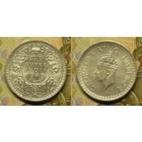 Британская Индия 1 рупия 1945 г