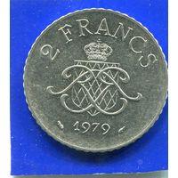 Монако 2 франка 1979