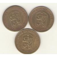 1 крона 1962, 1967, 1970 г. Чехия.