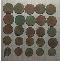 27 монет раннего СССР.