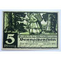 Германия. 5 пфеннигов 1921г.