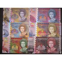 Остров Питкерн Набор 6 банкнот 2018 г.(Неофициальный выпуск) Полимер UNC