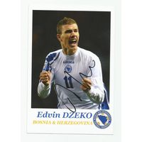 Edin Dzeko(Босния и Герцеговина). Фотография с живым автографом.