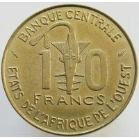 Западная Африка 10 франков 1976 (363)