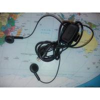 Наушники от Nokia 63000, Micro-USB разъем, с переключателем и микрофоном, рабочие, новые