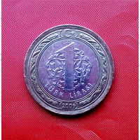 89-05 Турция, 1 лира 2009 г.