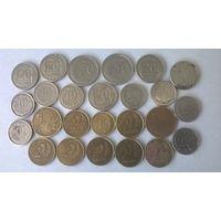 Гроши Польши (25 монет одним лотом, разные номиналы и года).