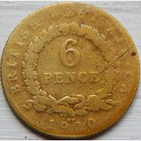 5. Британская западная африка 6 пенсов 1920 год*