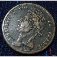 Французские колонии. 5 сантимов 1825 г. - 2