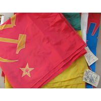 Флаги - знамёна союзных республик СССР. АзССР, ЛитССР, ТаджССР, ГрузССР. цена за 1 шт.