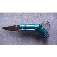"""Брелок на ключи """"Пистолет-ножик"""". распродажа"""
