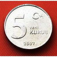 117-09 Турция, 5 куруш 2007 г.