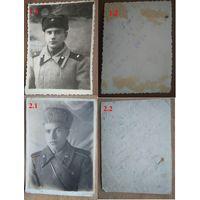 Фото солдата в зимнем обмундировании. 1940-50-е. 2 шт. Цена за 1