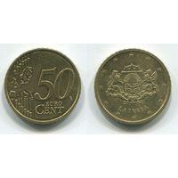 Латвия. 50 евроцентов (2014, XF)