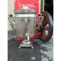 50 литровый  самовар  латунь и в родной гольванике.трактирный вес 25 кг 72-42 см и ноги 27 -27 см