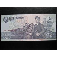 СЕВЕРНАЯ КОРЕЯ 5 ВОН 1998 ГОД UNC