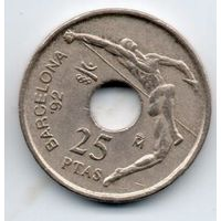 КОРОЛЕВСТВО ИСПАНИЯ. 25 ПЕСЕТ 1992. СПОРТ. XXV летние Олимпийские Игры, Барселона 1992