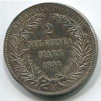 ГЕРМАНСКАЯ НОВАЯ ГВИНЕЯ - 2 МАРКИ 1894 А !!!
