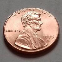 1 цент США 1995, 1995 D, AU