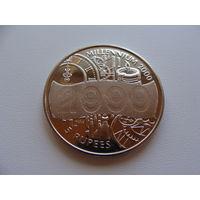 """Сейшельские острова. 5 рупий 2000 год  KM#112 """"Миллениум голограмма"""""""
