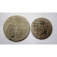 12 и 24 часть талера 1764 и 1783 г.г. (не плохие).