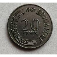 20 Центов 1967 (Сингапур)