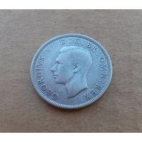Великобритания, полкроны (2,5 шиллинга) 1942 г., серебро