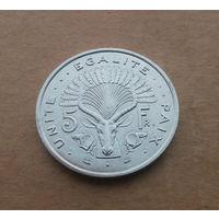 Джибути, 5 франков 1991 г.