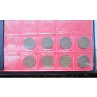 ПОЛНАЯ КОЛЛЕКЦИЯ (минус 2 пф. 1968J  бронза) Германия ФРГ 2 пфеннига 1948-1994 все монетные дворы - 158 монет, погодовка без повторов!