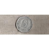 Карибские острова /карибы/ 5 центов 2002