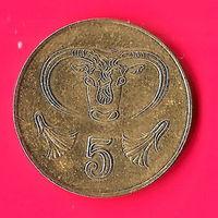 11-27 Кипр 5 центов 2001г.