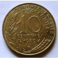 10 сантимов 1989 Франция